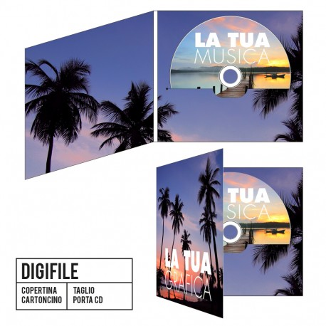 CD Digifile 2 Ante - Stampa Digitale + Duplicazione standard
